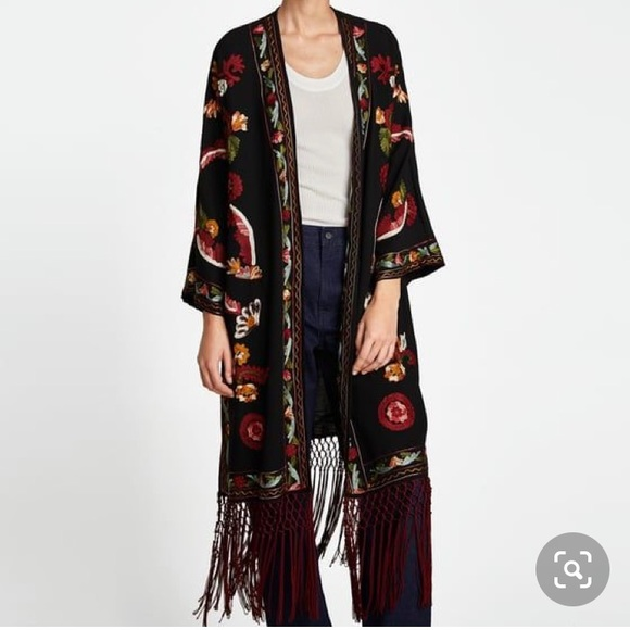 Zara Jackets & Blazers - Zara Embroidered Kimono
